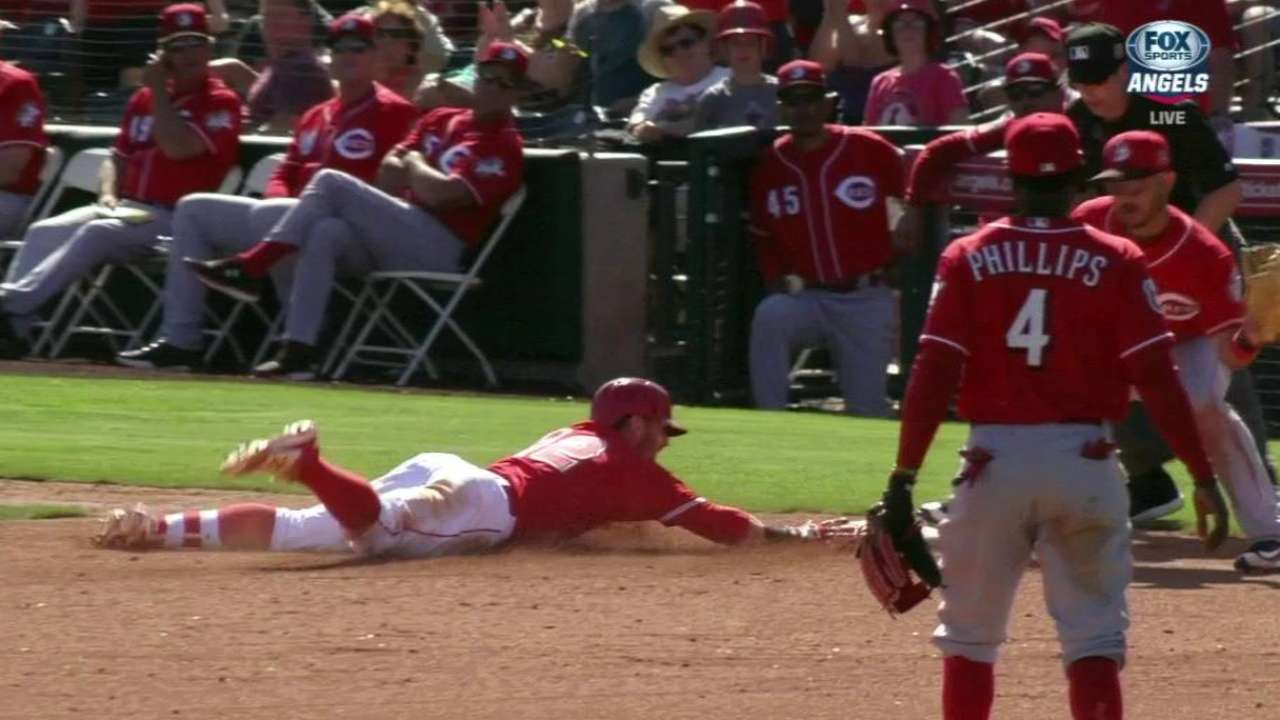 Backups' bats propel Angels in rout of Reds
