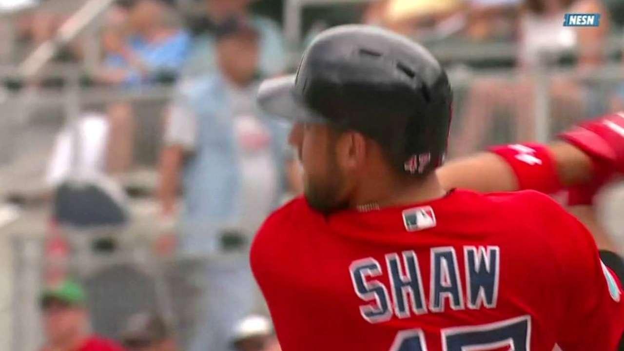 Shaw three-run blast