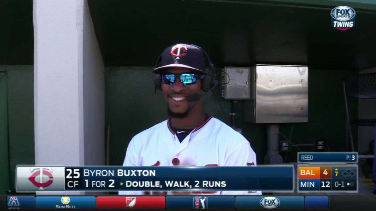 Buxton scratched after pregame illness