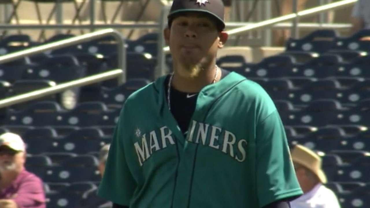 King Felix's five strikeouts