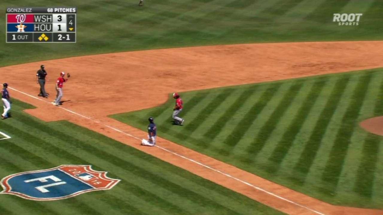 Gonzalez gets out of a jam