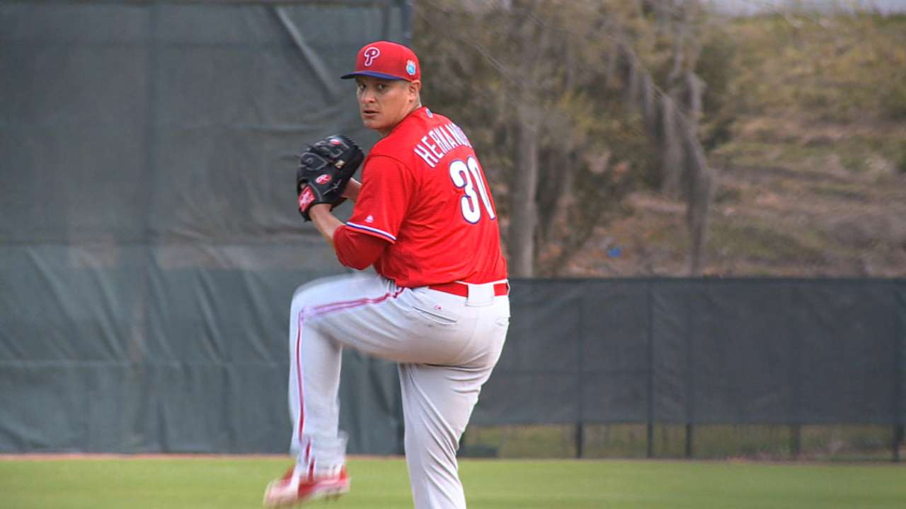 D. Hernandez on track to open season healthy