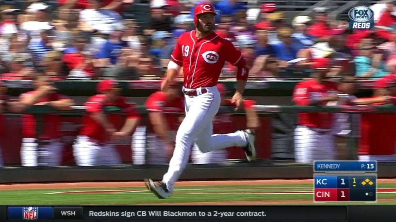 Bruce, Duvall get Reds going against Royals