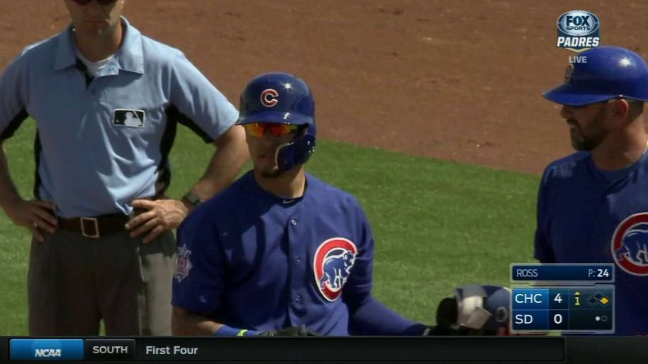 Baez plays catch; Cubs face roster decisions