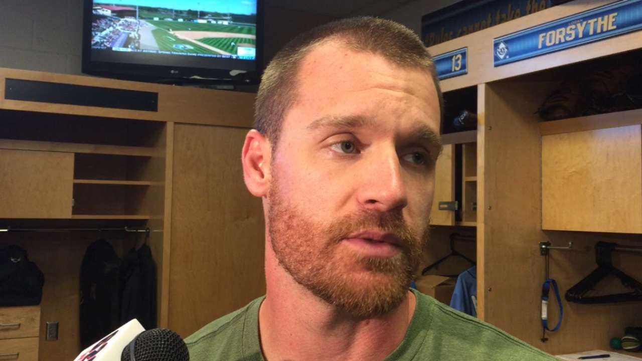 Forsythe day to day after hit-by-pitch