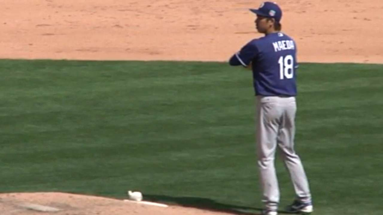 Maeda's solid spring outing
