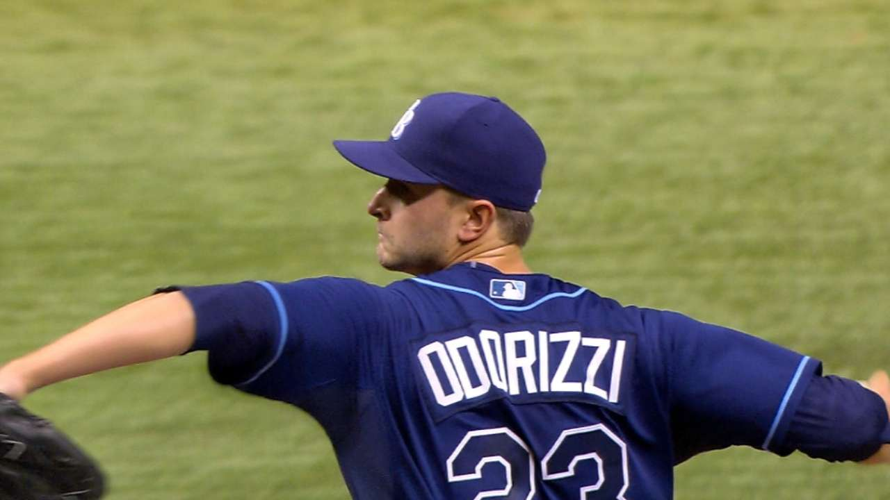 Odorizzi gets work in on Rays' off-day