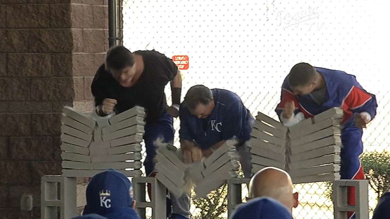 Royals stay motivated with feats of strength