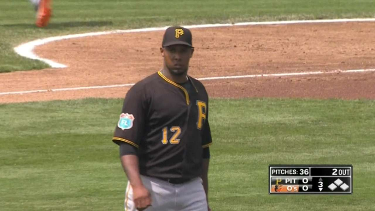 Nicasio fans 10 over four frames