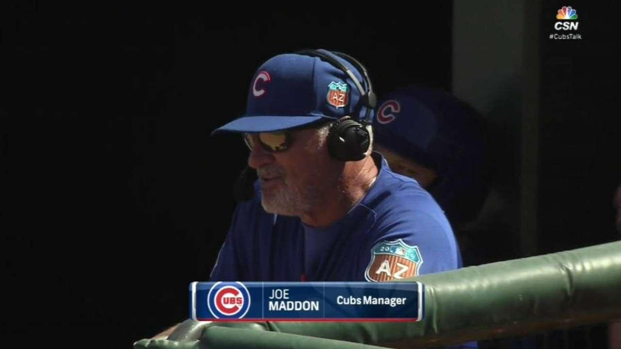 Maddon shifting to spring lineup of regulars