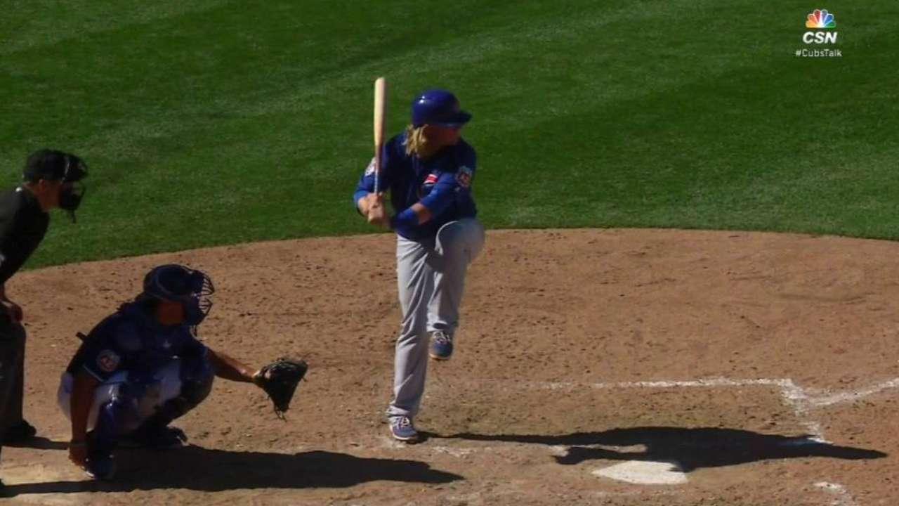 Cubs get kick out of Davis' bid to make bigs