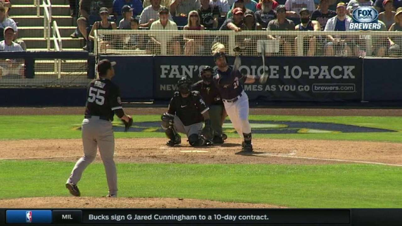 Lucroy HRs, Braun debuts as Crew tops Sox