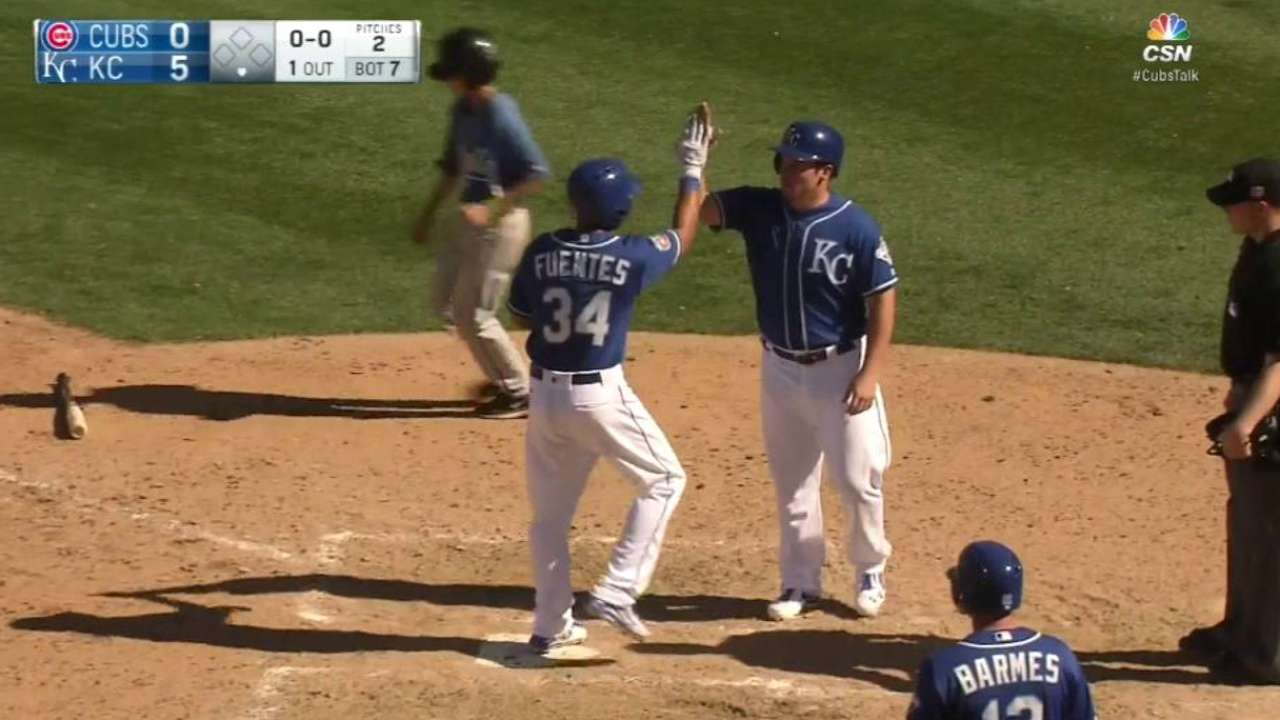 Fuentes' 4 RBIs spark potent Royals' offense