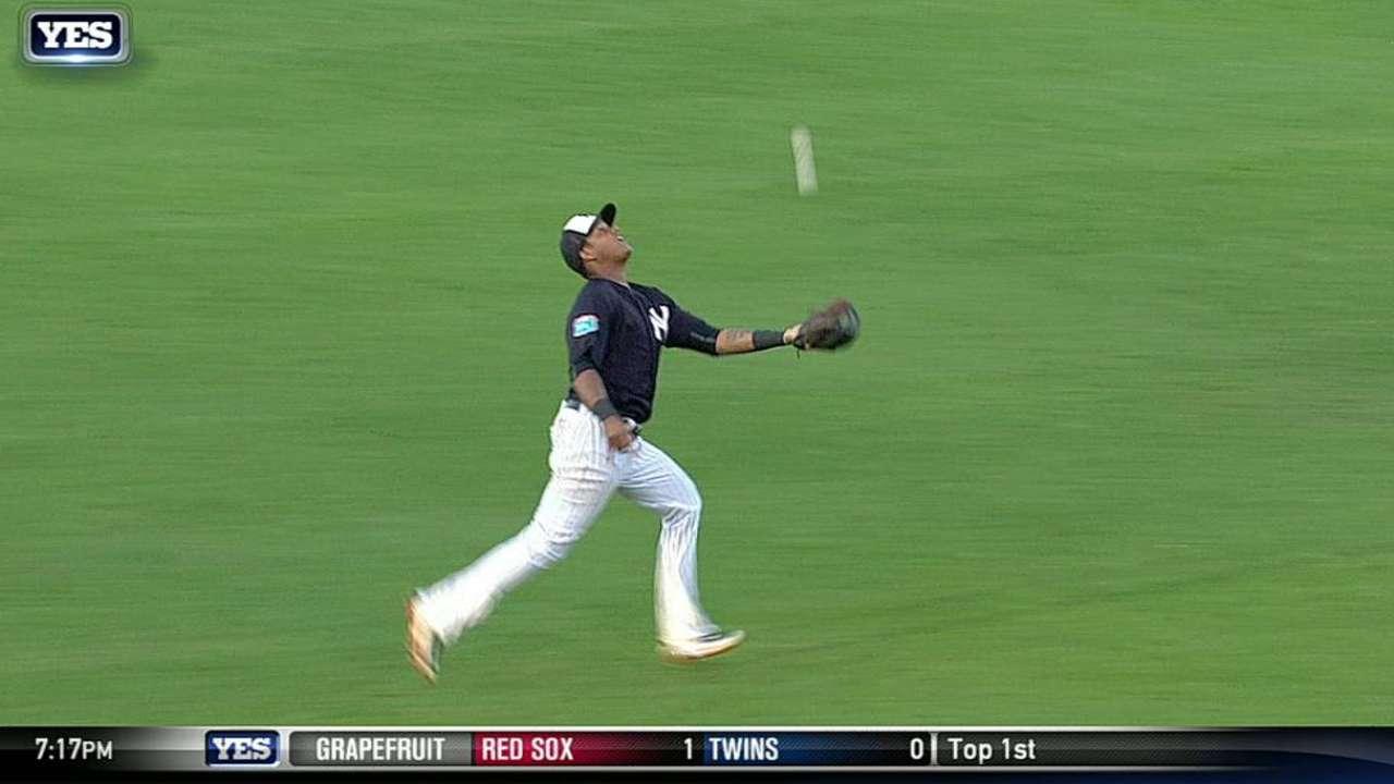 Castro's running catch
