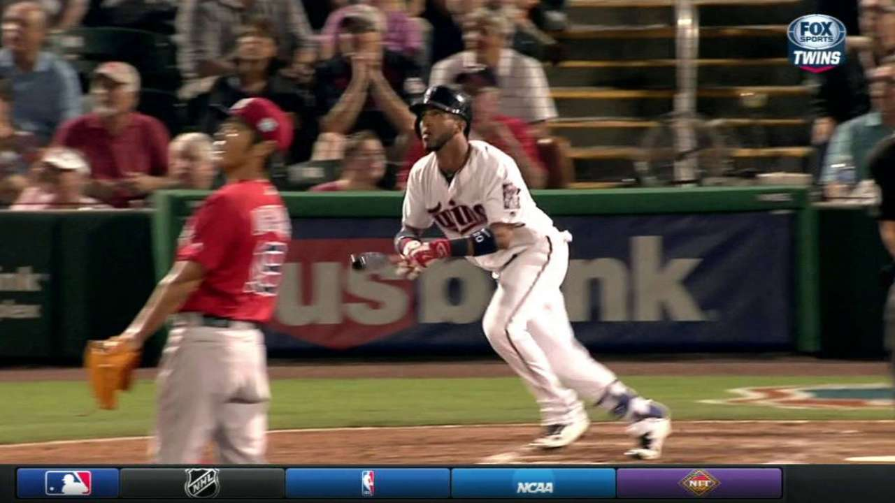 Rosario's two-run homer