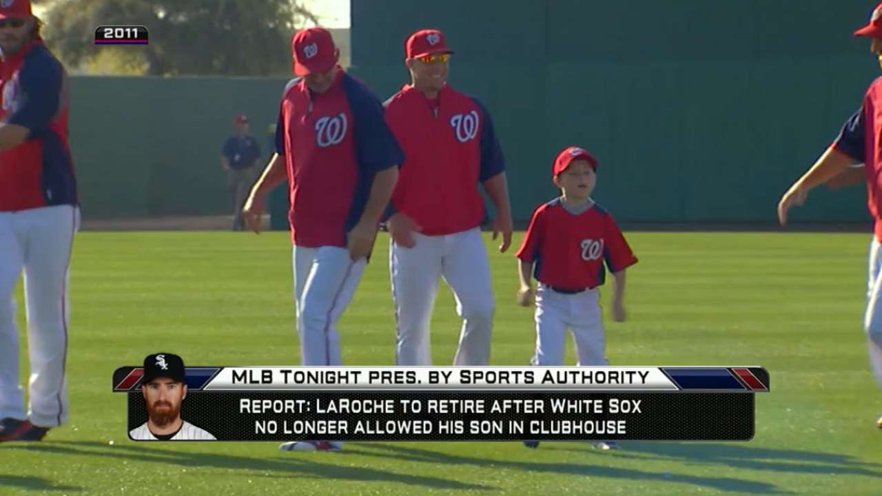 LaRoche balked at reducing son's presence
