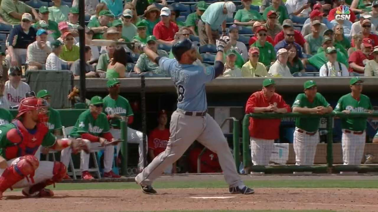 Rays homer four times in win over Phillies