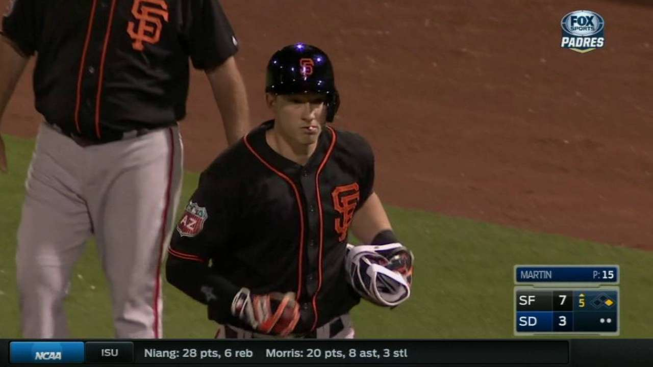 Brown making case to back up Posey