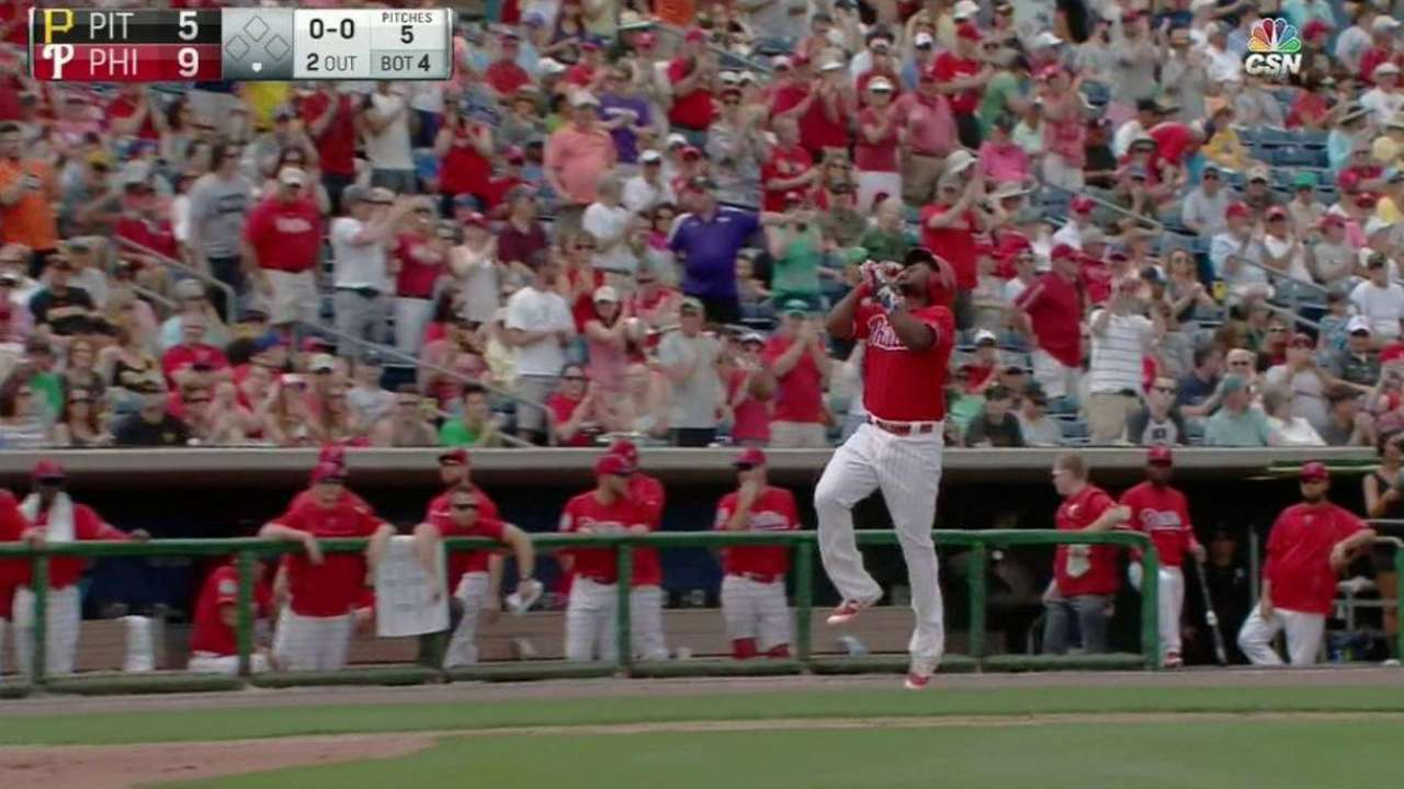 Franco's three-run homer