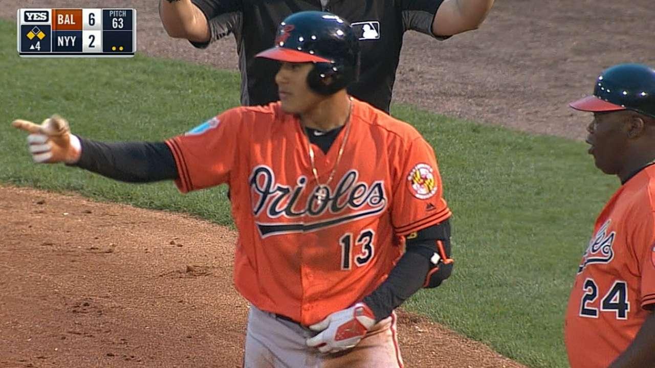Machado, O's thump Yanks as CC struggles