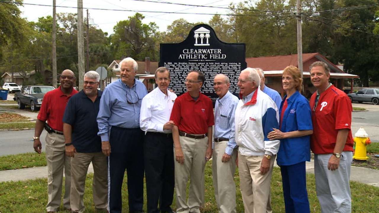 City of Clearwater honors Phillies' old Spring Training site