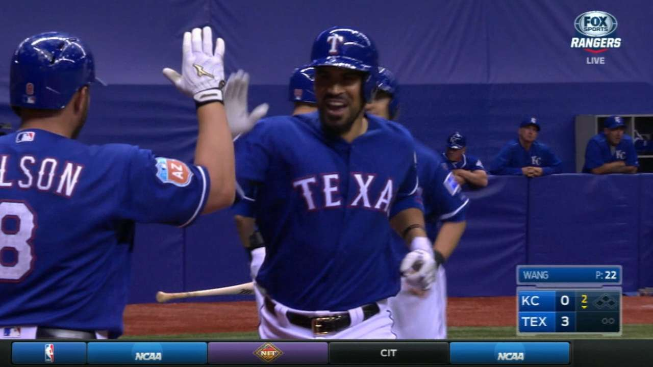 Rangers pour it on Royals at Alamodome