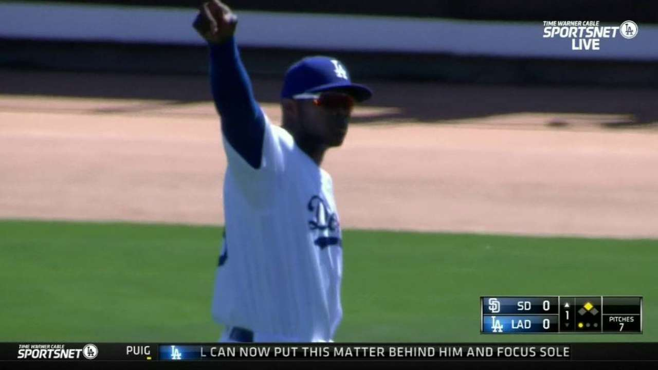 Puig shows off his arm