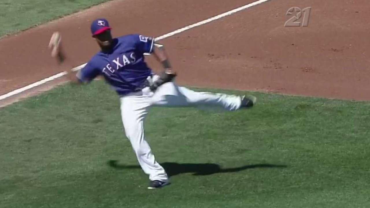 Beltre's barehanded play
