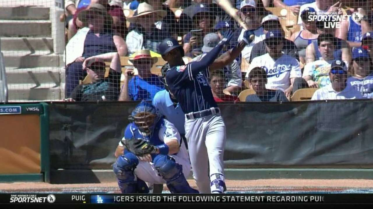 Padres pounce on Dodgers with big 2nd