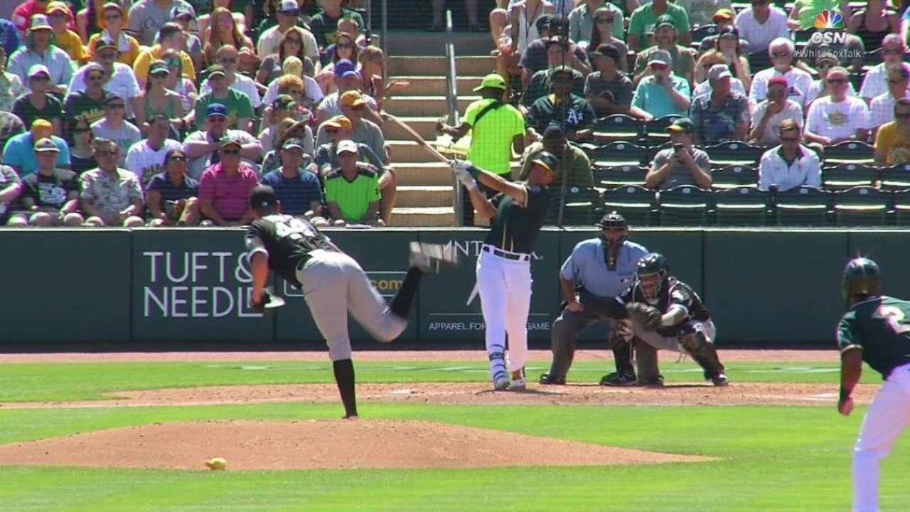 Olson's RBI single ties the game