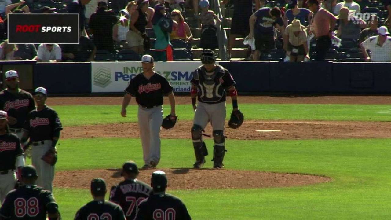 Angels acquire pitcher Adams from Indians