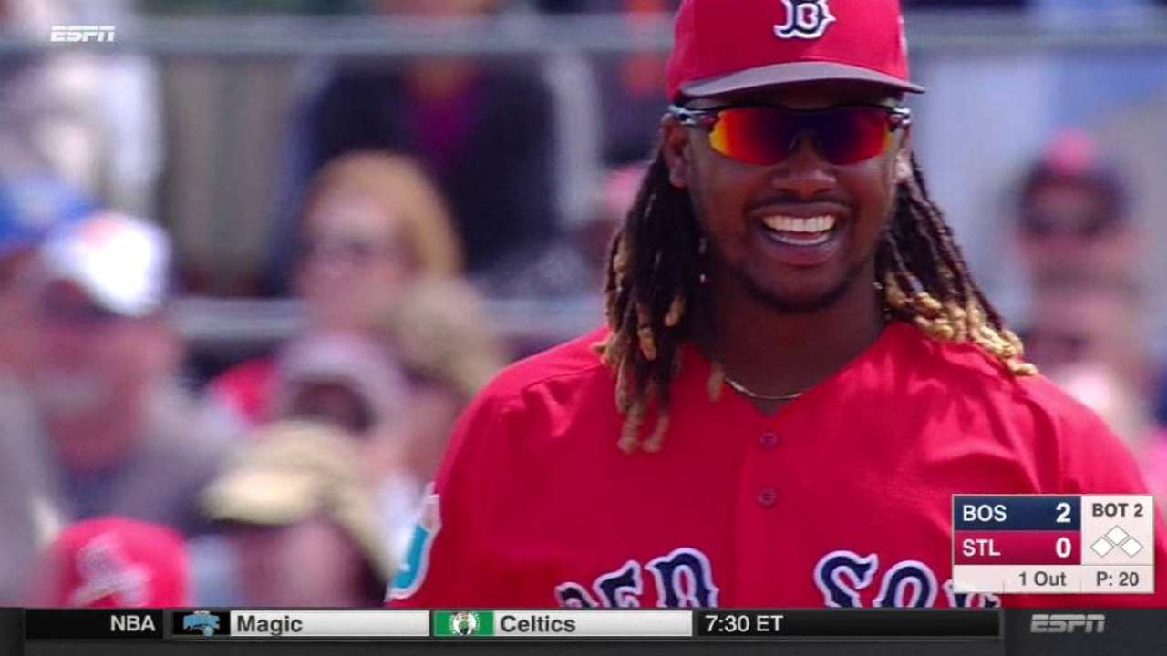 Ramirez all smiles in new first-base role