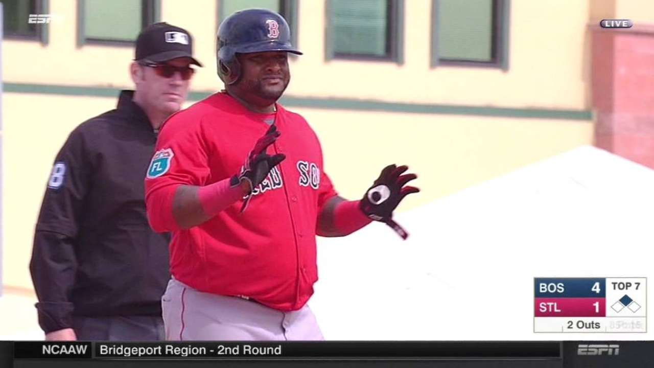 Sandoval's RBI double to center