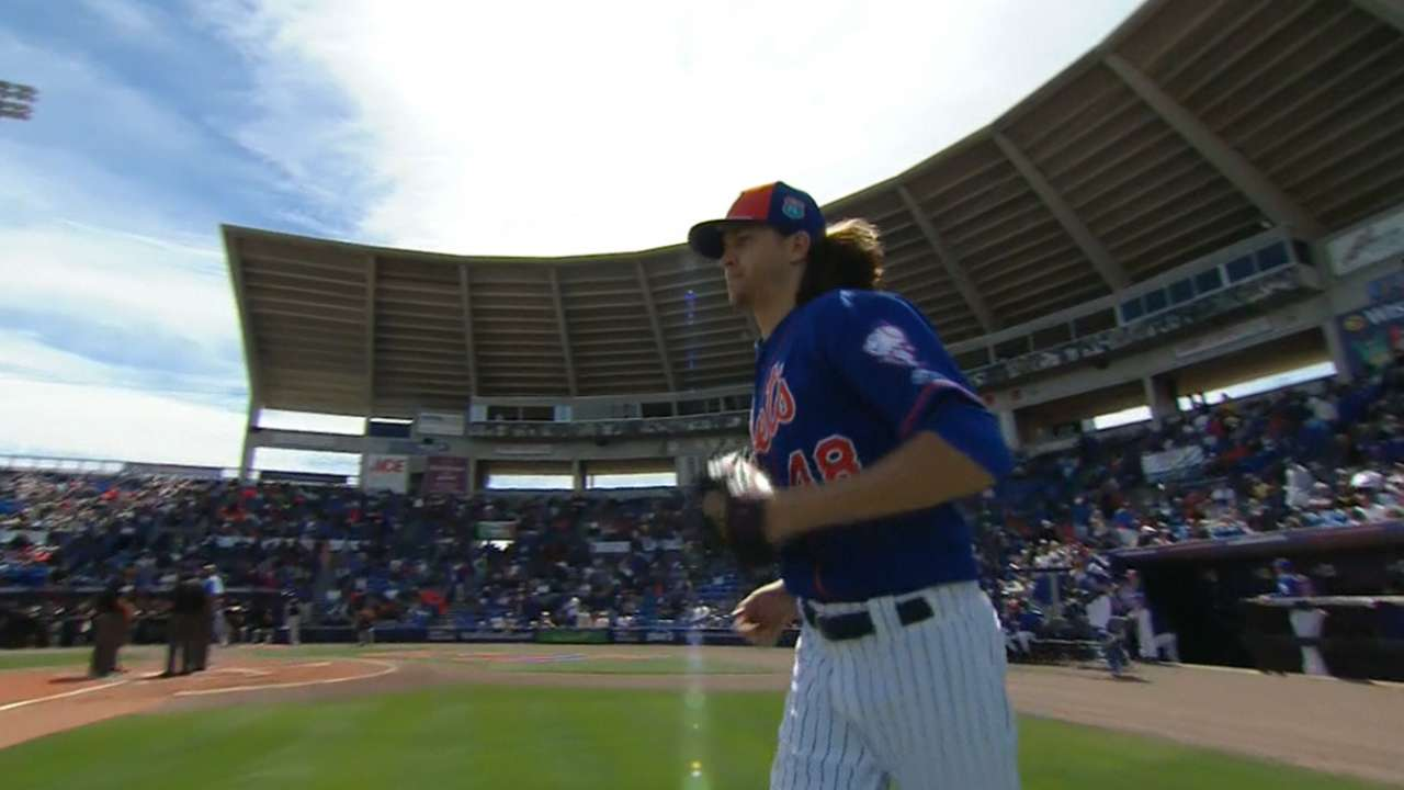 deGrom gets swings and misses in third start