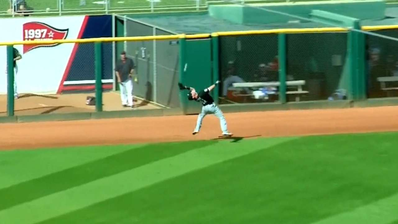 Sands' great catch in left