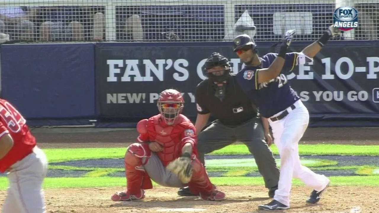 Rivera forcing Brewers' hand with hot bat