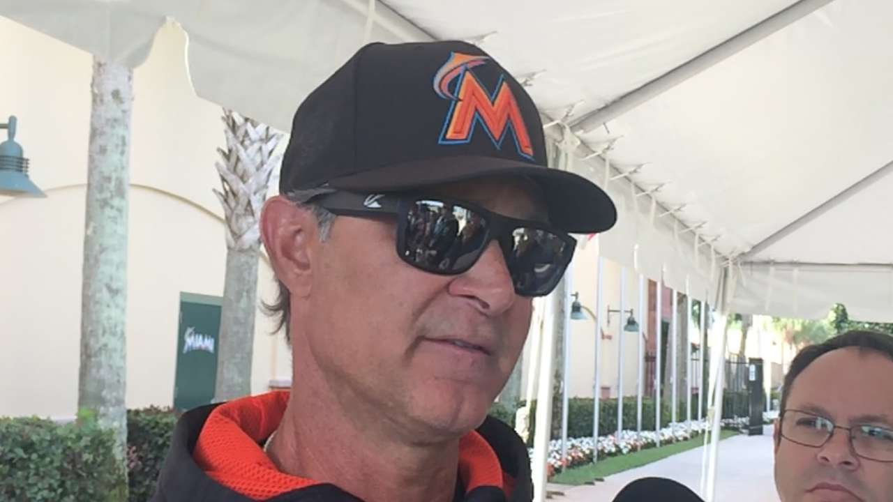 Marlins monitor Minors insurance in wild first week