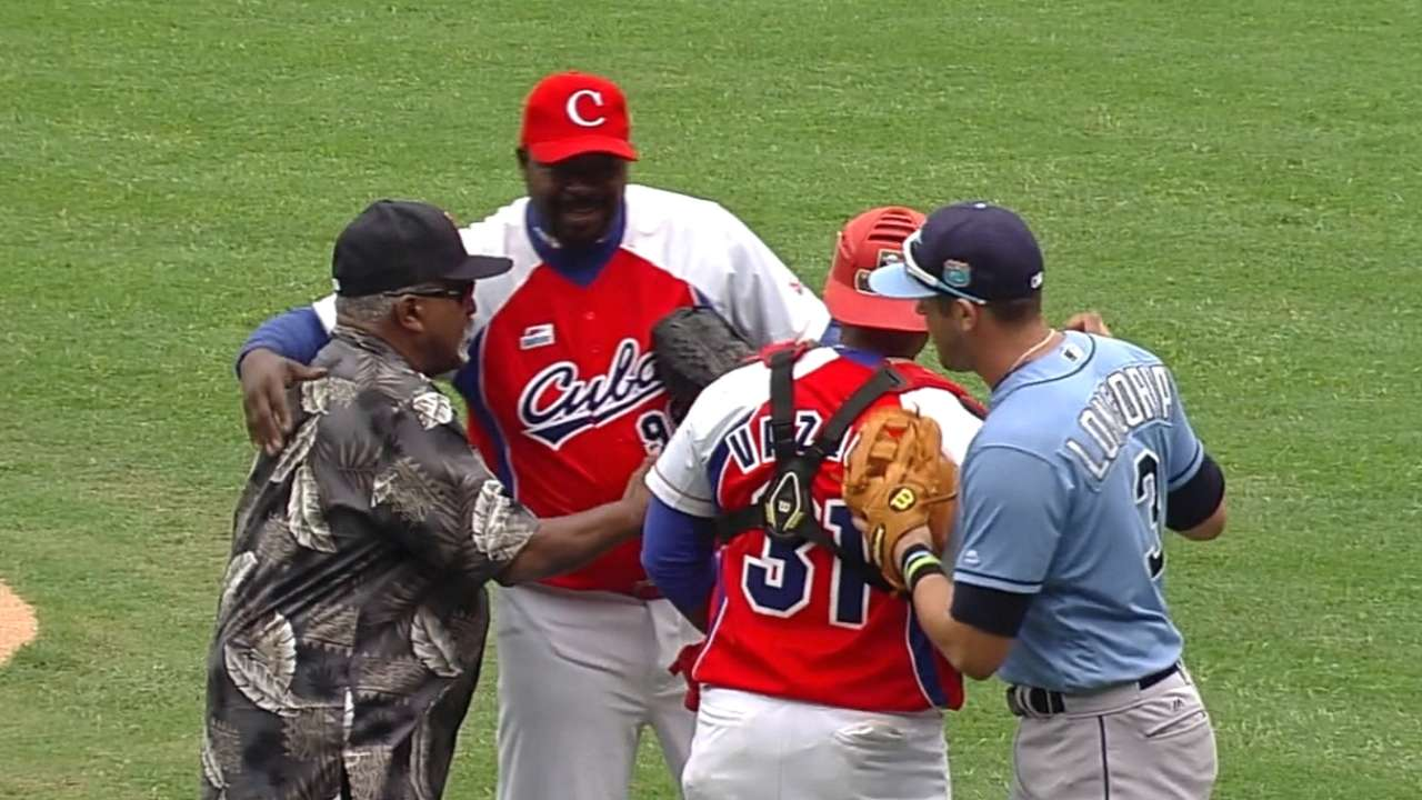 Historic first pitches in Cuba
