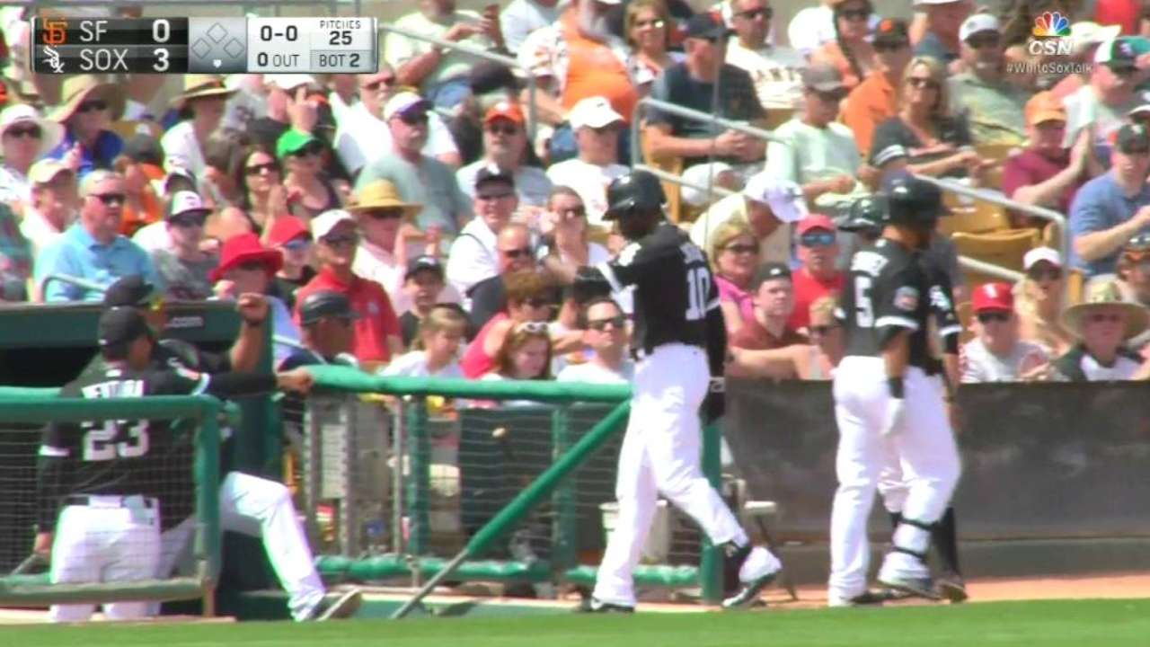 Jackson's solo homer in the 2nd