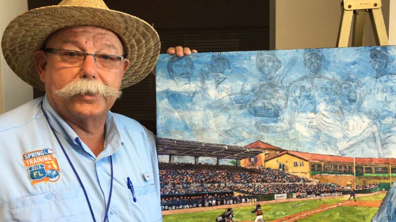 Astros honor long-time employee Miers with painting