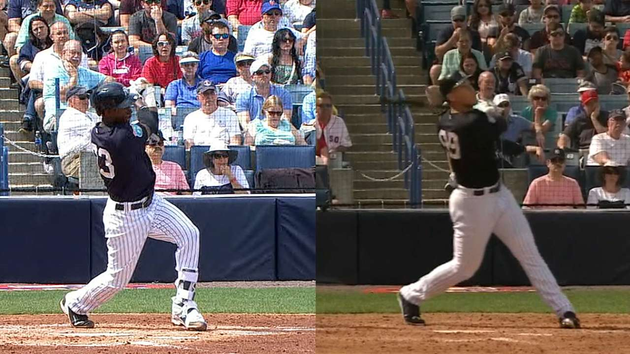Yanks' youngsters flash home run power