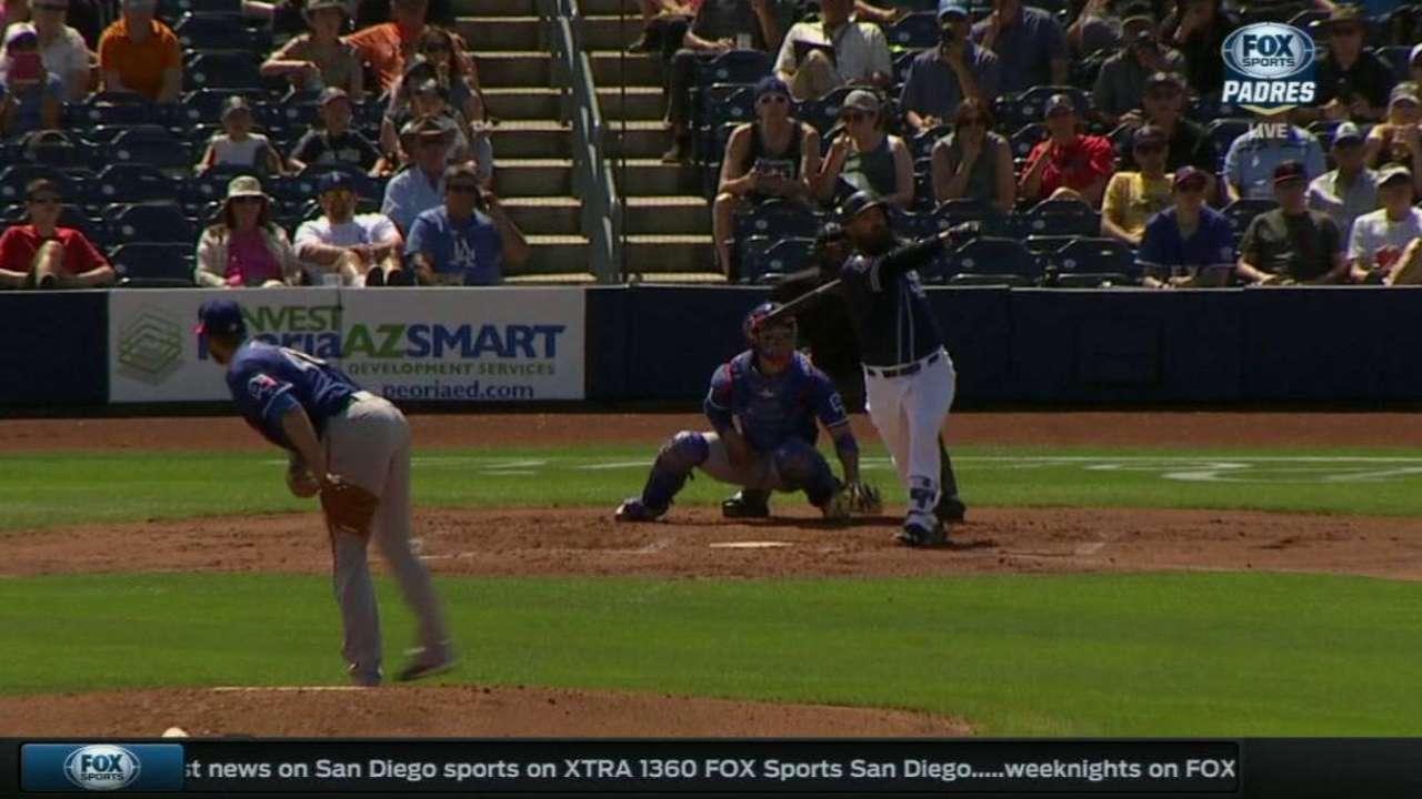 Norris helps Padres stay red-hot vs. Rangers