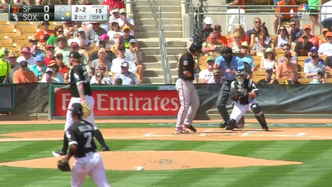 Latos strikes out Parker looking