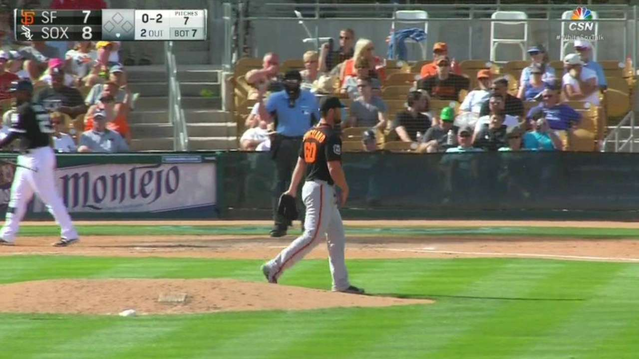 Strickland perfecting secondary pitches