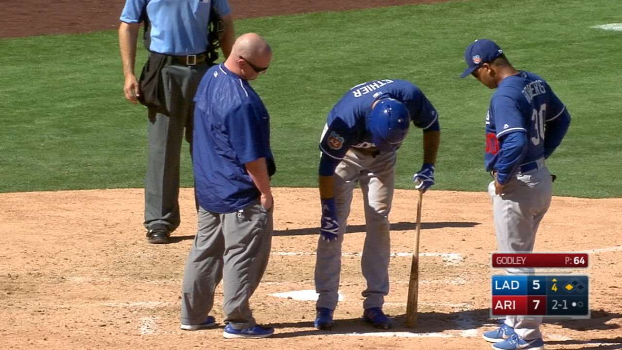 Ethier out with fractured tibia