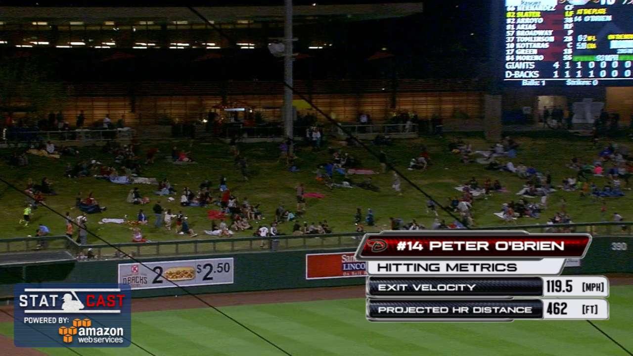 O'Brien crushes record-setting long ball