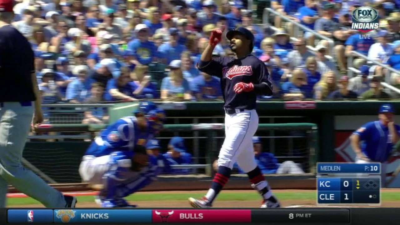 Lindor launches first Cactus League homer
