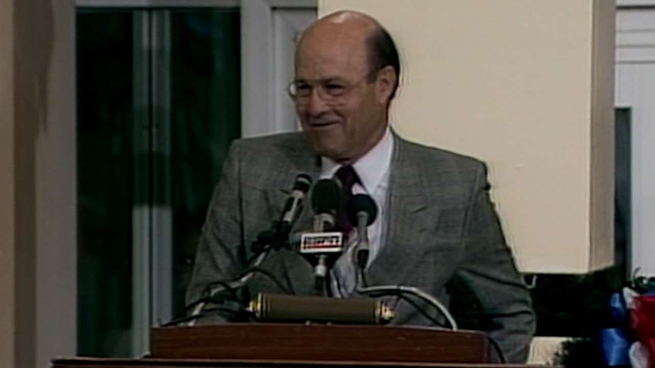 Garagiola delivers Frick speech