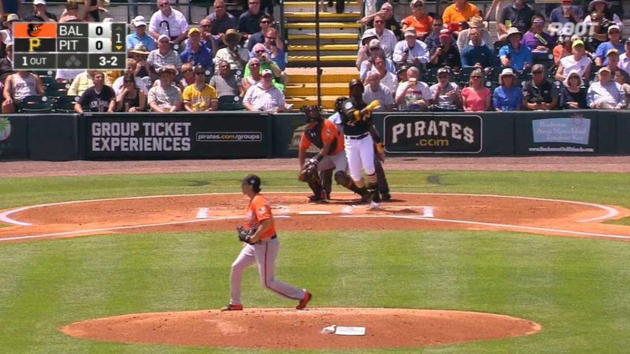 Pirates outfielders go yard in win over Orioles