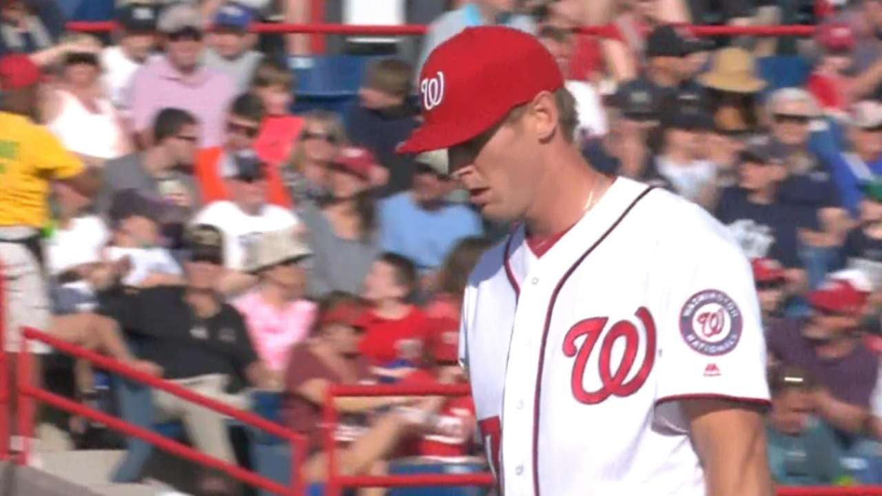 Strasburg strikes out nine Yanks